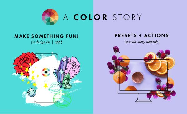 "Twórz kolorowe historie w apce ""A Color Story"""