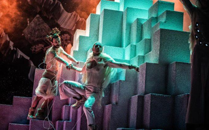 """Boska komedia wersja 2.2"" – medytacja VR na żywo (fot.. Magda Hueckel)"