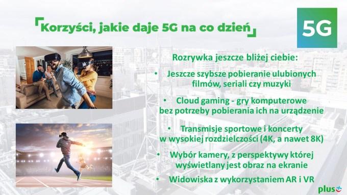 Korzyści sieci 5G dla klientów Plusa i Cyfrowego Polsatu