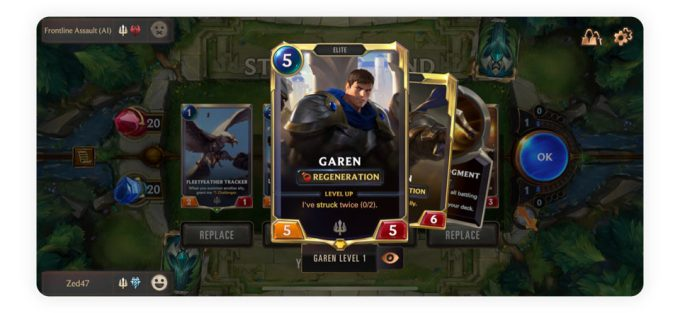 Zrzut ekranu z gry Legends of Runeterra (LOL)