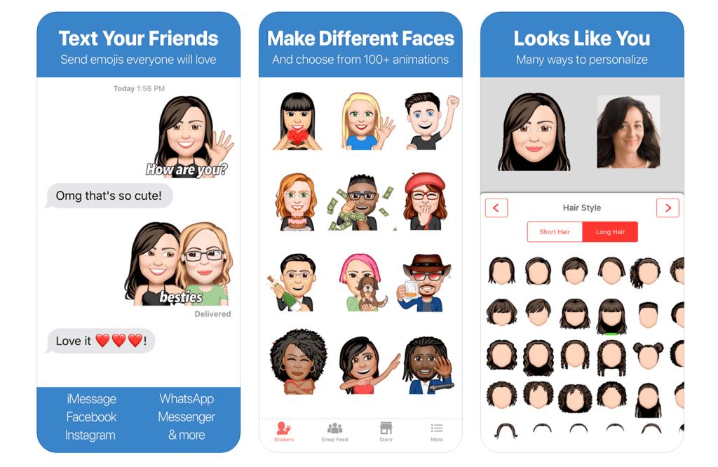 Emoji Me - zrzuty ekranu z aplikacji