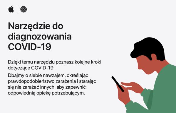 Polska wersja narzędzia do diagnozowania COVID‑19 na stronach Apple'a