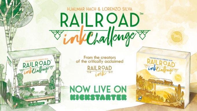 Gra Railroad Ink Challenge od 12 maja 2020 r. na Kickstarterze