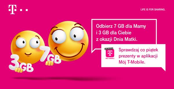 Odbierz 7 GB dla mamy i 3 GB dla siebie w T-Mobile