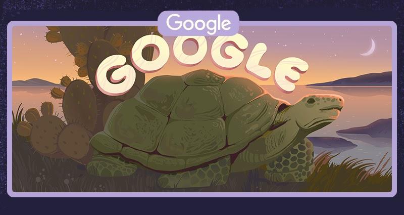 Żółw galapago - Ecuador's Galápagos Islands (Google Doodle)