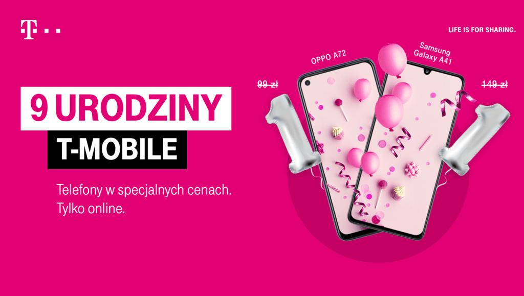 9. urodziny T-Mobile - smartfony za złotówkę