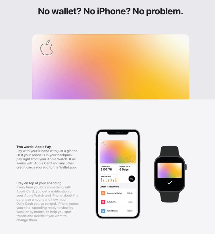 iPhone + Apple  Watch (Apple Card)