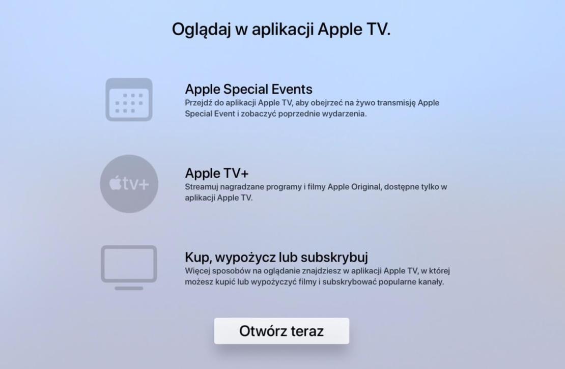 Oglądaj Events w aplikacji Apple TV