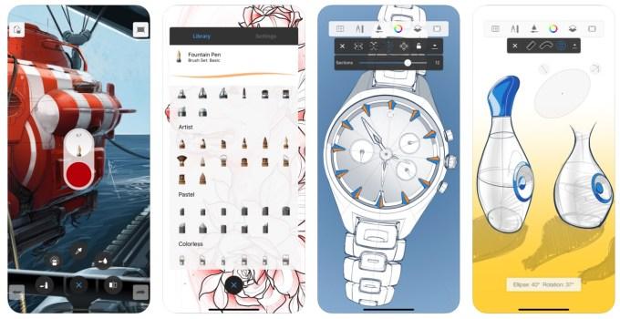 Zrzut ekranu z aplikacji Autodesk SketchBook