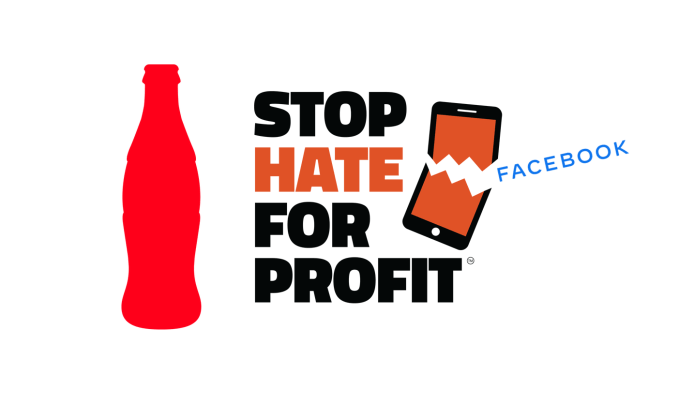 Coca-Cola STOP HATE FOR PROFIT (Facebook Ads stop)