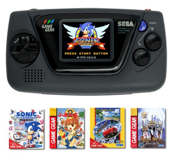 Minikonsola Game Gear Micro (czarna) + 4 minigry