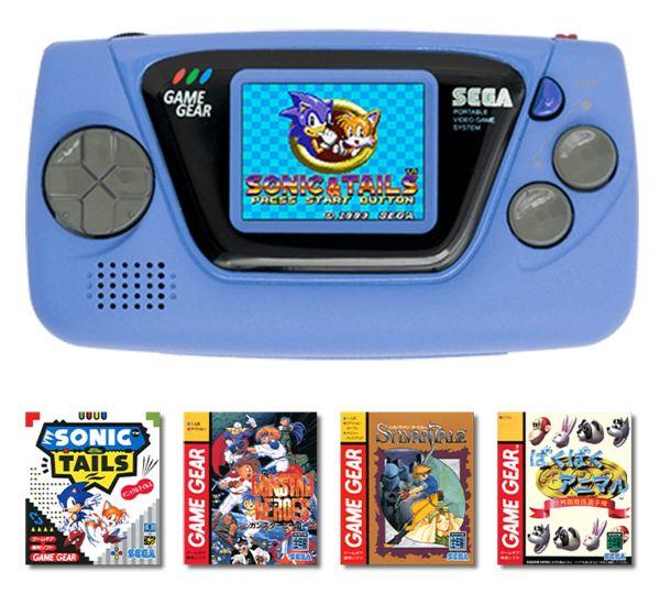Minikonsola Game Gear Micro (niebieska) + 4 minigry