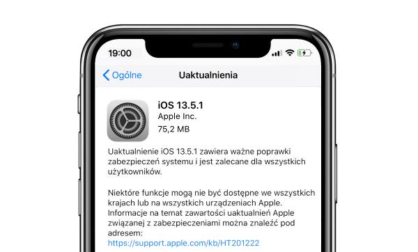 Apple wydało iOS i iPadOS 13.5.1 z poprawkami bezpieczeństwa