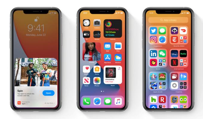 Zrzuty ekranu z iOS 14