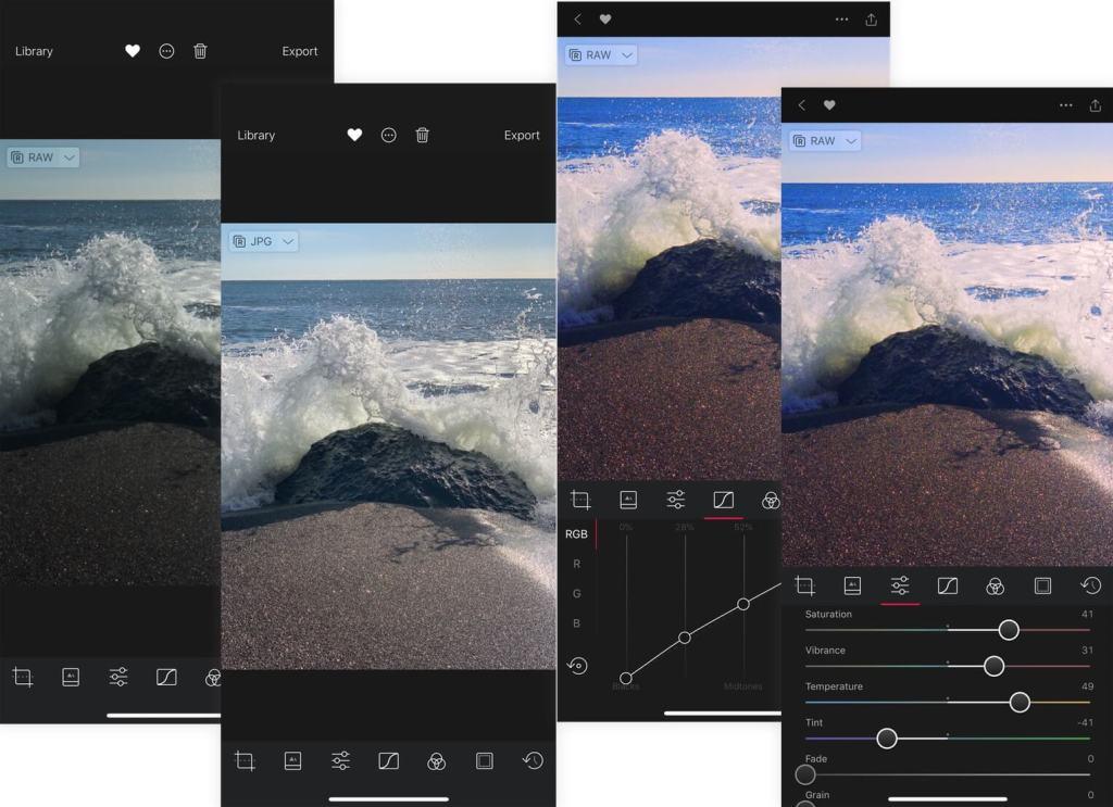 Obróbka zdjęć RAW na iPhonie