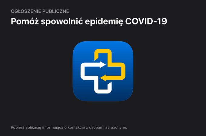 Ogłoszenie publiczne w polskim sklepie App Store – aplikacja ProteGO Safe