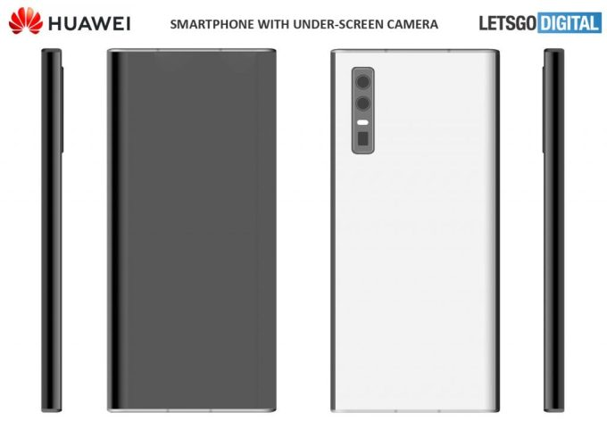Patent smartfonów Huawei z kamerą pod ekranem