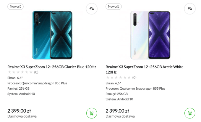 Cena realme X3 SuperZoom w Polsce