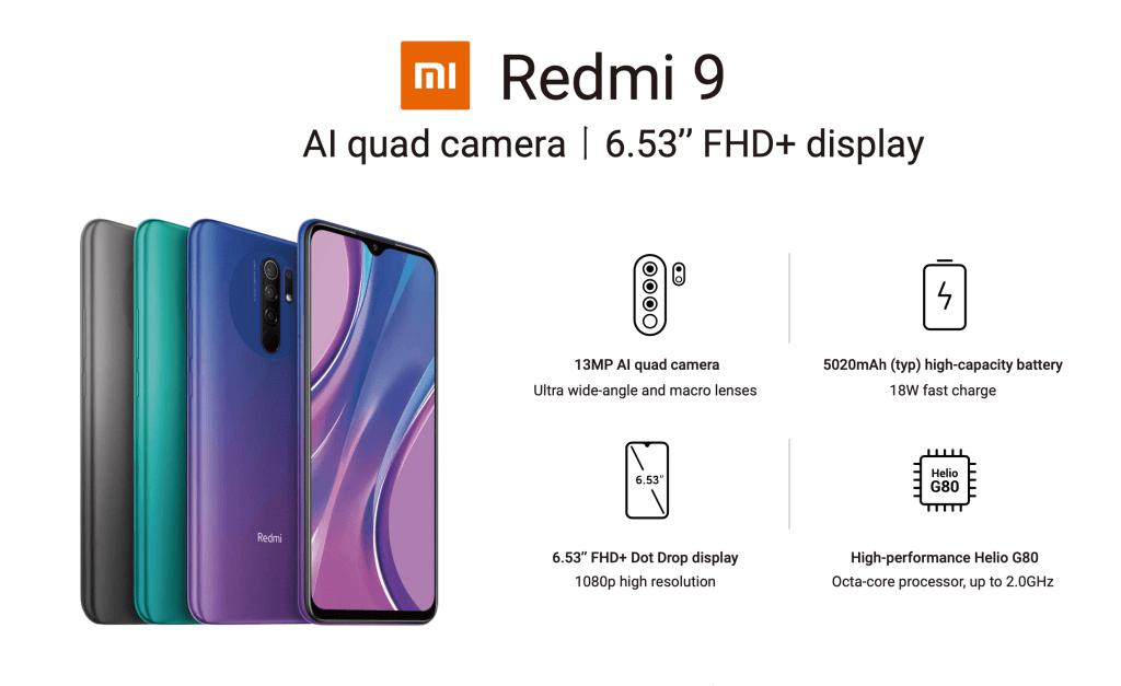 Redmi 9 od Xiaomi (czerwiec 2020)