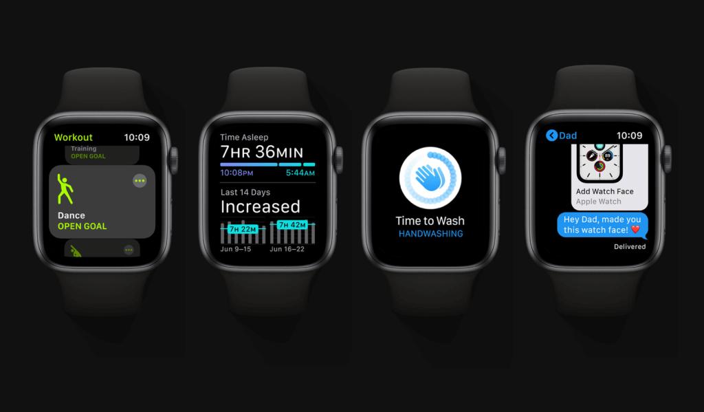 Dostępność najważniejszych funkcji systemu watchOS 7 na zegarkach Apple Watch - modele/generacje
