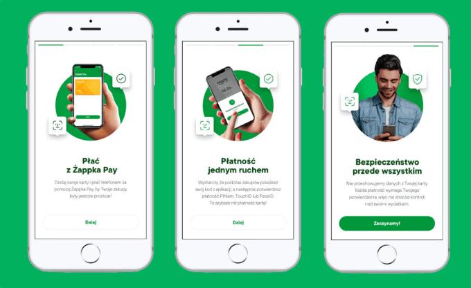 Żappka Pay (zrzuty ekranu z aplikacji żappka)