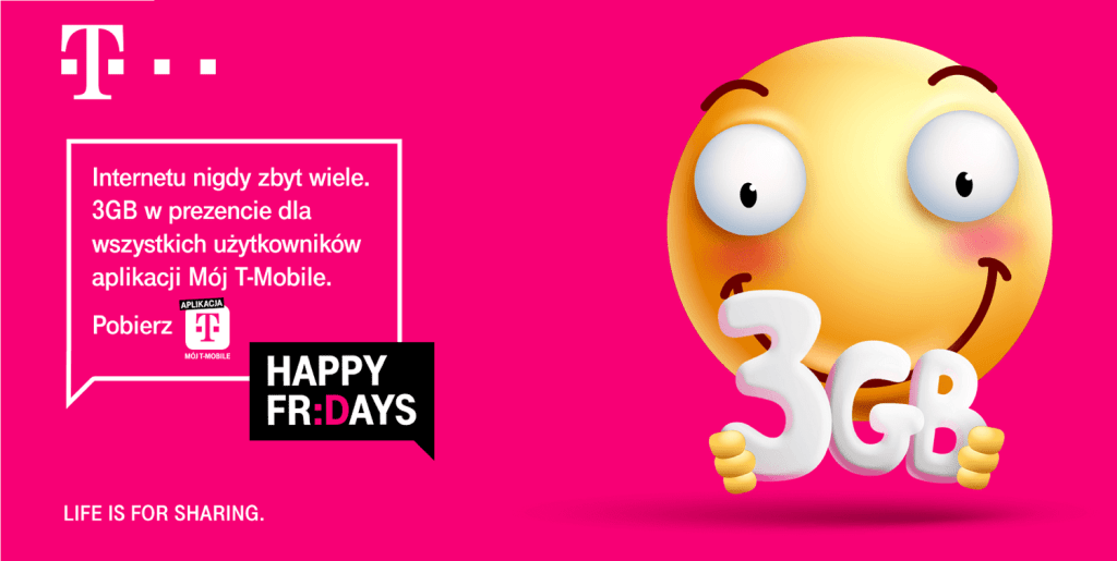 3GB w ramach Happy Fridays od T-Mobile (lipiec 2020)