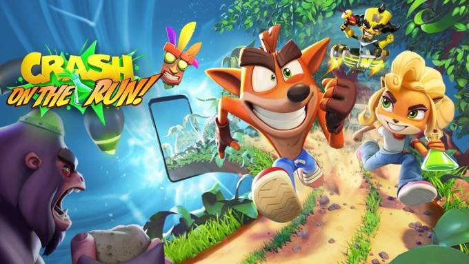 "Gra mobilna ""Crash Bandicoot: On the Run!"""