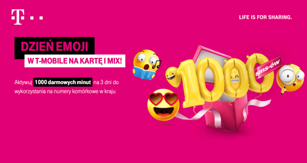 1000 bezpłatnych SMS-ów w T-Mobile na kartę