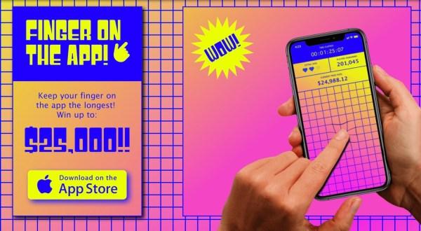 Ludzie trzymają palec na ekranie smartfona przez 70h za 25 tys. USD
