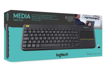 Klawiatura Media Wireless Touch Keyboard K400 Plus