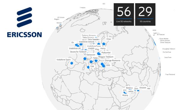 Ericsson podpisuje 100. komercyjny kontrakt 5G