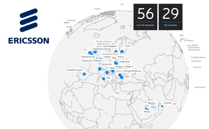 Ericsson podpisał już 100 komercyjnych kontraktów 5G