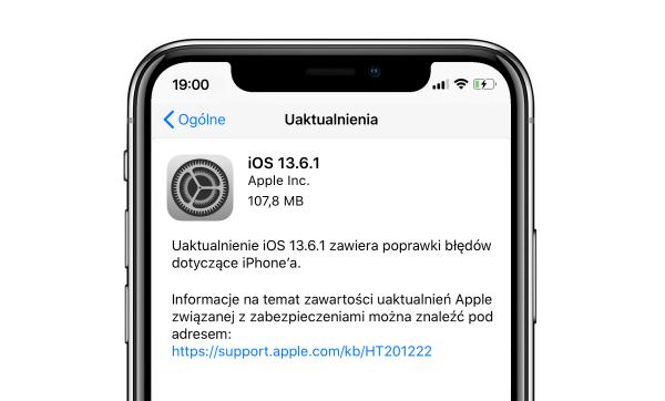 Zainstaluj poprawki iOS 13.6.1, iPadOS 13.6.1 i macOS 10.15.6