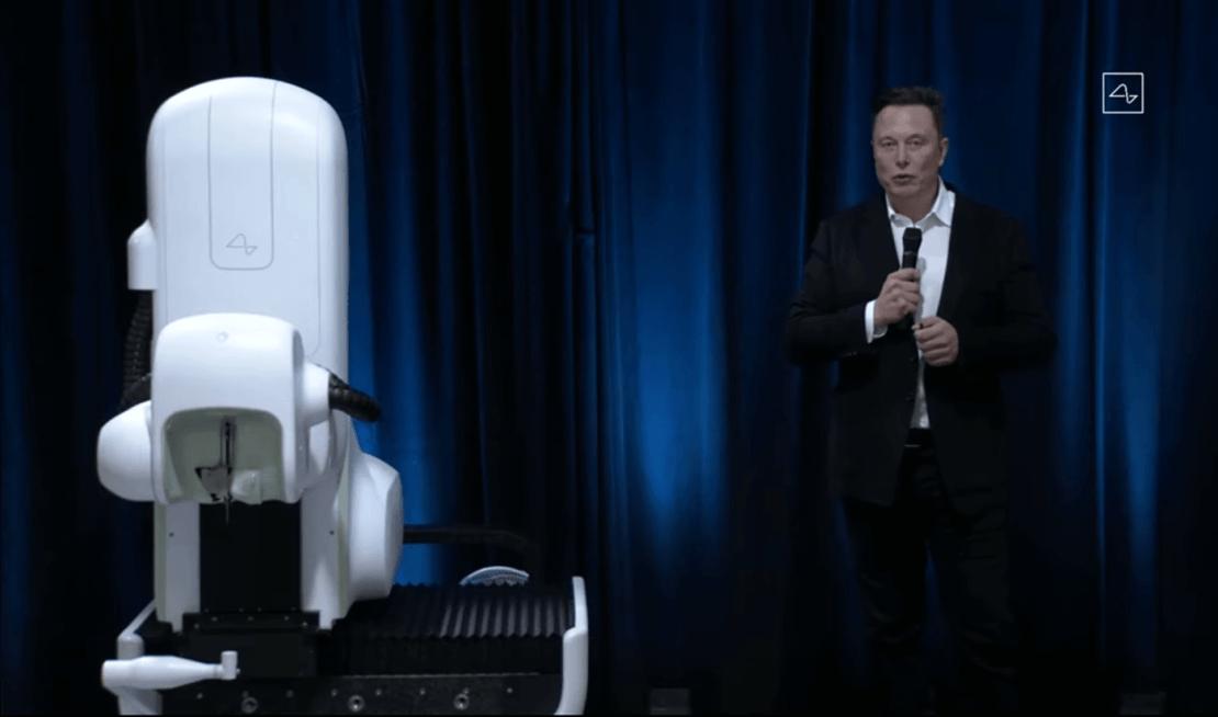 Elon Musk (Neurolink) i robot chirurgiczny V2 do implantacji interfejsu mózg-maszyna