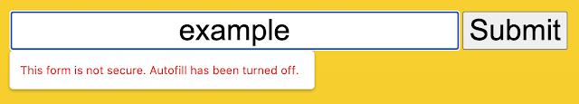 Ostrzeżenie o niezabezpieczonym formularzu w przeglądarce Chrome 86
