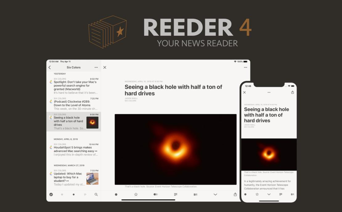 Mobilny czytnik RSS: Reader 4