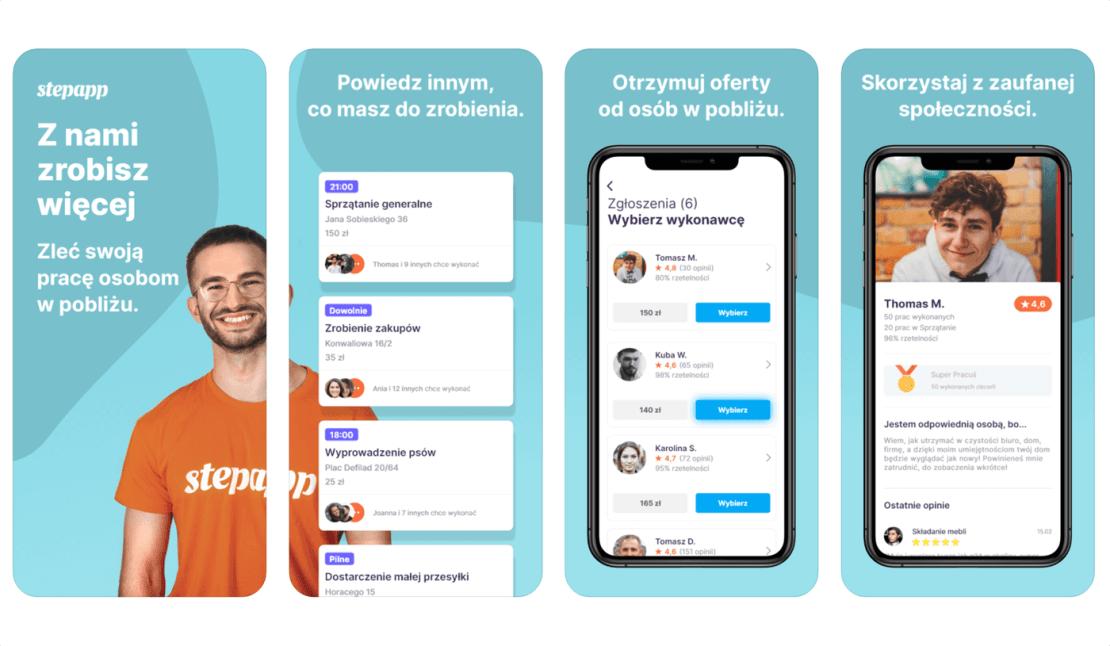"""Aplikacja mobilna """"Stepapp"""" dla zamawiających wykonywanie usług"""