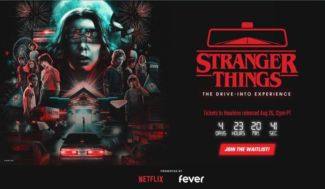 Zrzut ekranu ze strony wydarzenia: Stranger Thing: The Drive-Into Experience