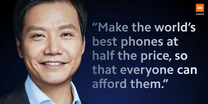 Lei Jun – Xiaomi (cytat)