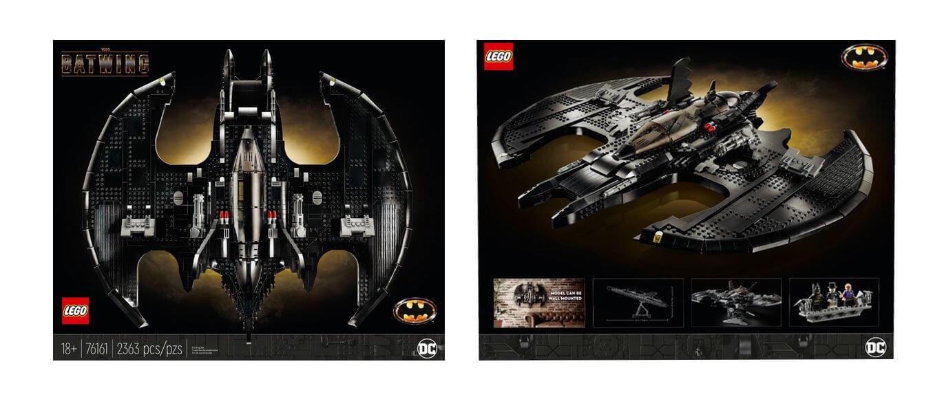 Pudełko zestawu LEGO Batman Batwing z 1989 roku (76161)