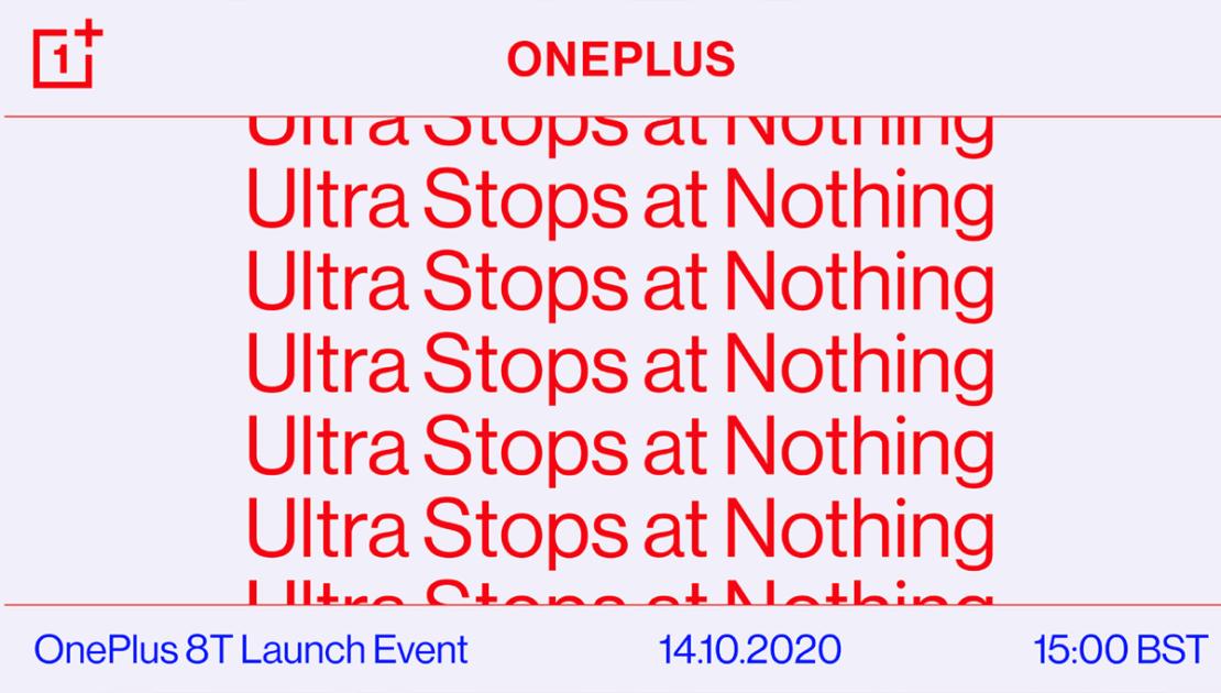 OnePlus 8T launch event 14 października 2020 r.