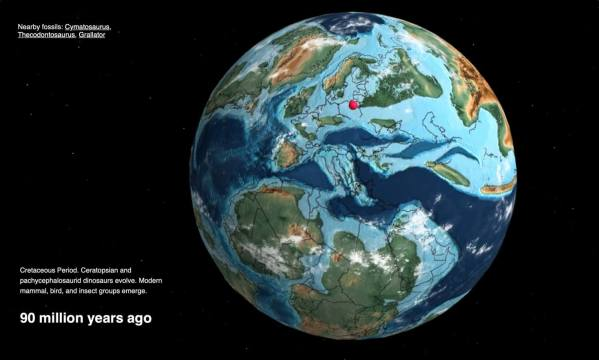 Interaktywny globus Ziemi przeniesie Cię do czasów prehistorycznych!