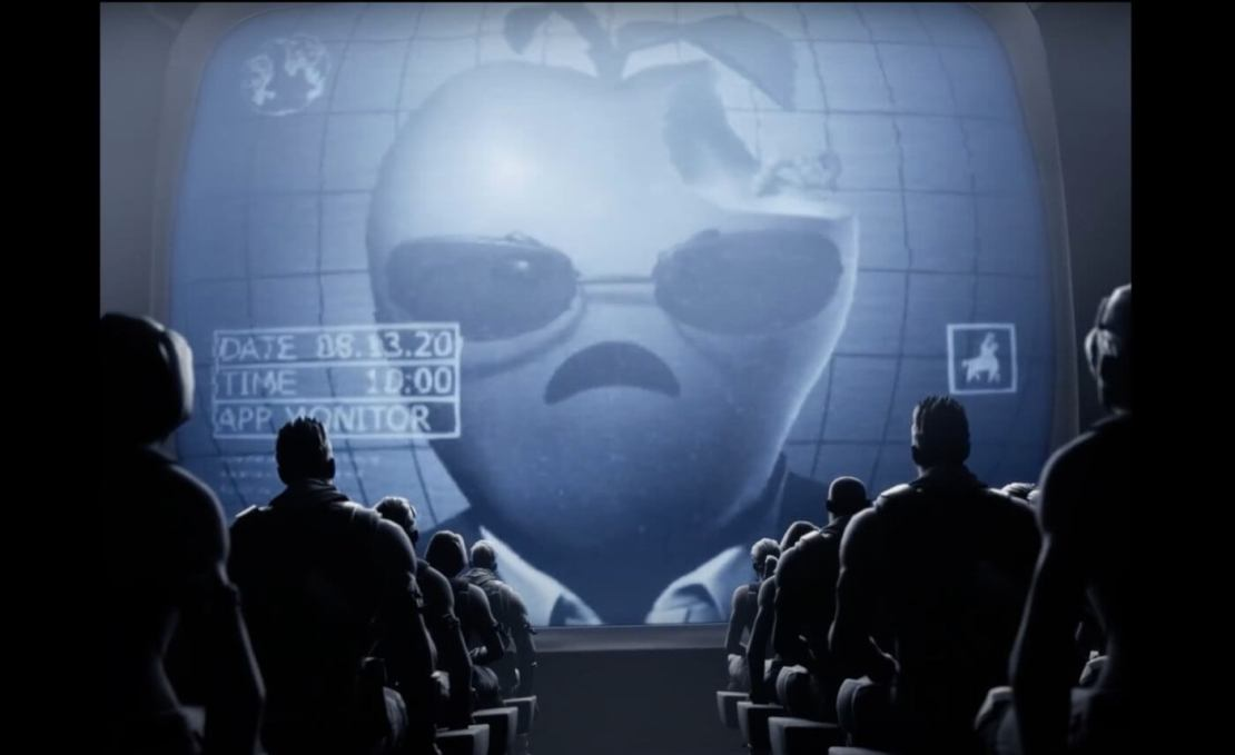 "Parodia reklamy ""1984"" Apple'a od Epic Games #FreeFortnite"