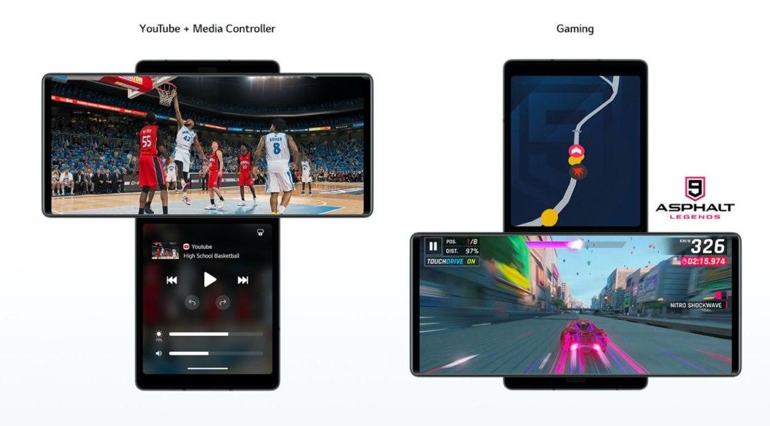 LG Wing - multitasking