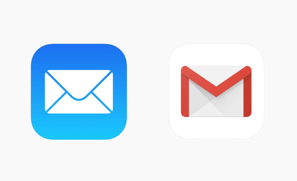 Ikona aplikacji Mail i Gmail pod iOS