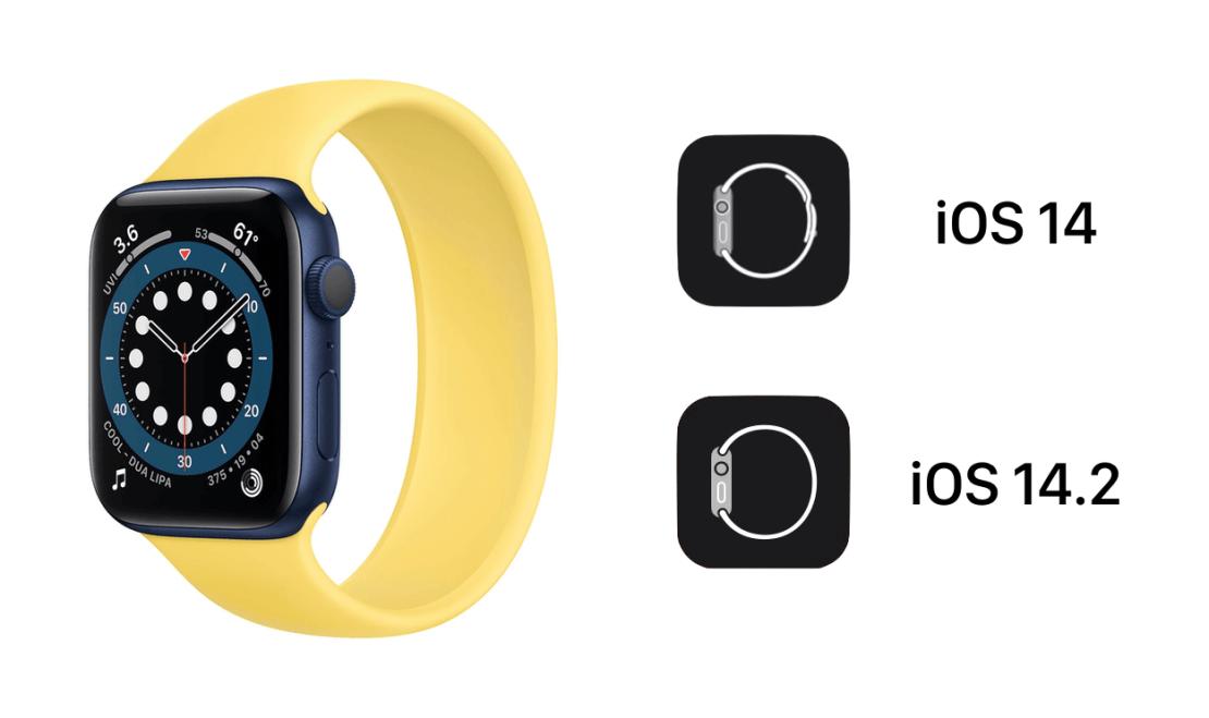 Nowa ikona aplikacji Watch pod systemem iOS 14.2 (beta 1)