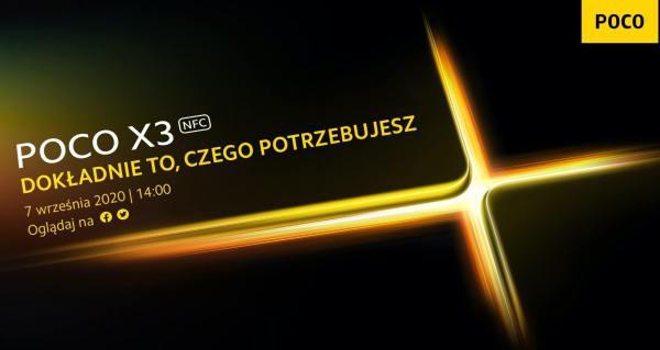 POCO X3 NFC ze Snapdragonem 732G zadebiutuje 7 września
