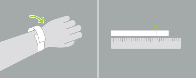 Pomiar nadgarstka za pomocą przedmiotów domowych