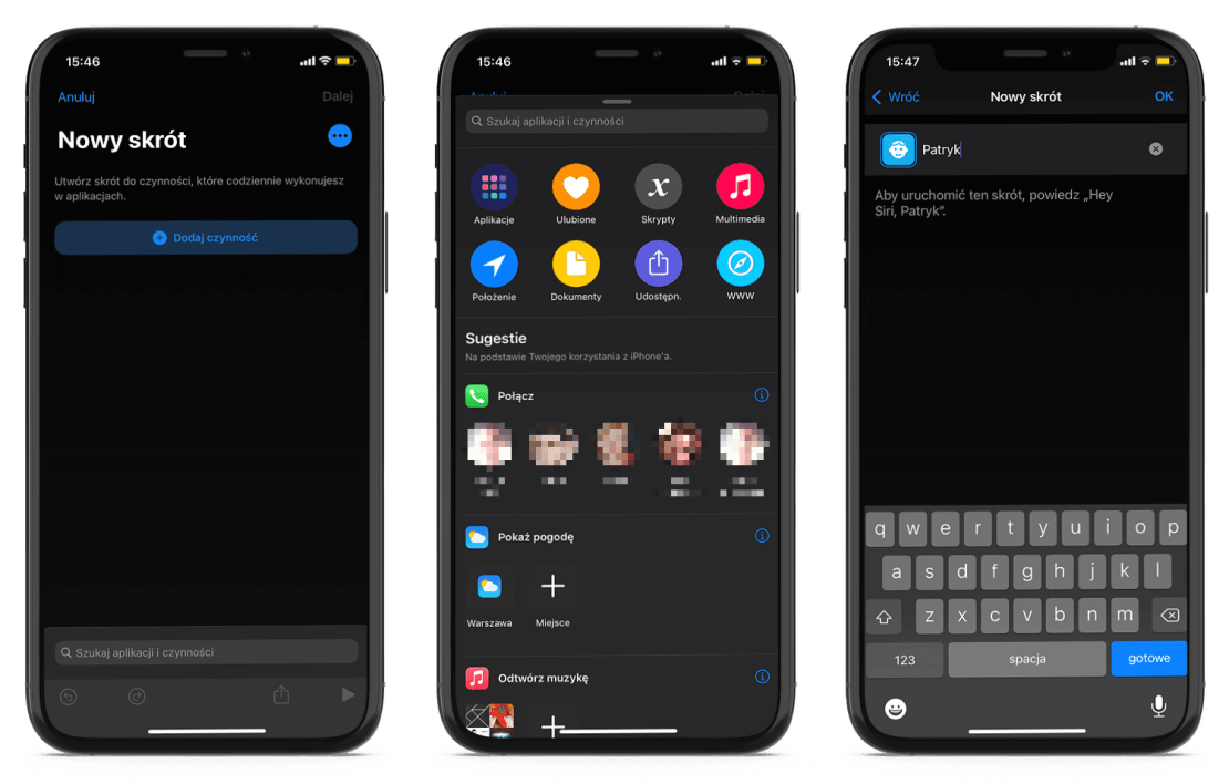 Tworzenie skrótów połączeń z ulubionymi kontaktami pod iOS 14