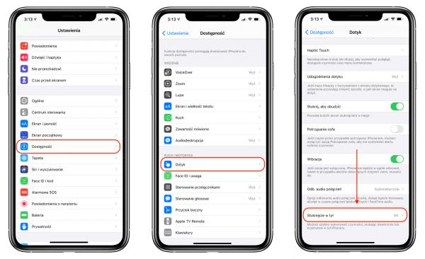 iOS 14: Możesz ustawić czynności stukając 2- lub 3-krotnie w tył iPhone'a